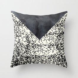 Black ivory confetti watercolor geometrical Throw Pillow