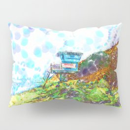 Life Guard Station On The Rocky Beach  Pillow Sham