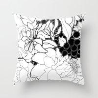 korean Throw Pillows featuring Korean Spring by Madame Mim
