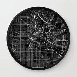 Los Angeles - Minimalist City Map Wall Clock
