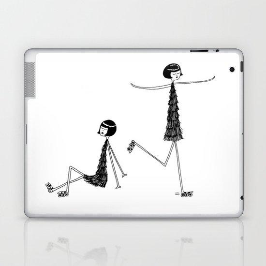 Roller skating Laptop & iPad Skin