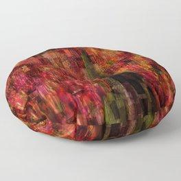 Field of Tulips Mosaic Floor Pillow