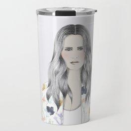 WATERCOLOR BLAZER GIRL Travel Mug