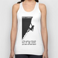 climbing Tank Tops featuring Rock Climbing by Rothko