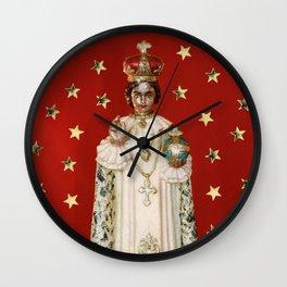Glitter Infant of Prague Wall Clock
