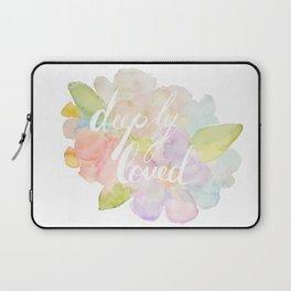 deeply loved watercolor Laptop Sleeve
