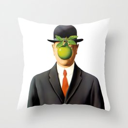 Rene Magritte The Son of Man, 1964 Artwork Reproduction Throw Pillow
