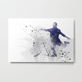Soccer Player 2 Metal Print