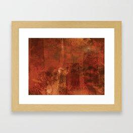 Organic rust Framed Art Print