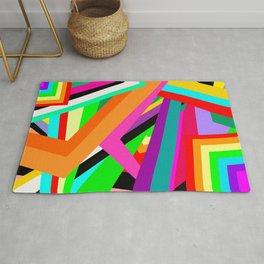 Geometric Rainbows (4 color scheme options) Rug