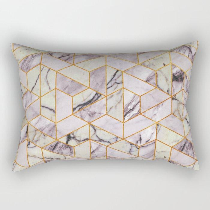 Vintage Marble Art Deco Pattern Rectangular Pillow
