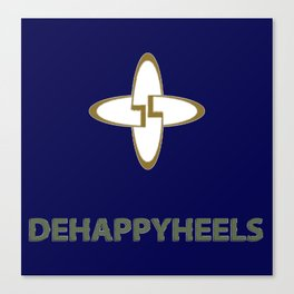Dehappyheels2 Canvas Print