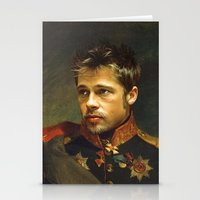 brad pitt Stationery Cards featuring Brad Pitt - replaceface by replaceface