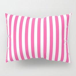 Neon pink white minimalist geometrical stripes Pillow Sham