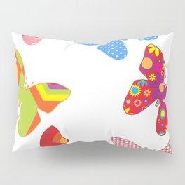 butterflies butterfly colorful Pillow Sham