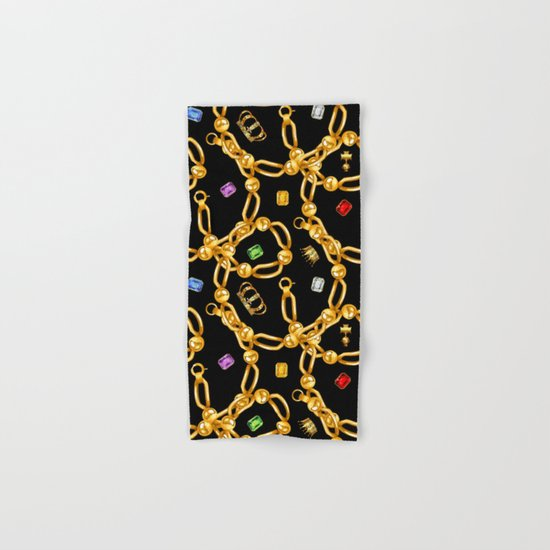 gold party 3 Hand & Bath Towel
