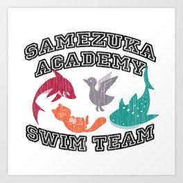 Samezuka Academy Swim Team Art Print