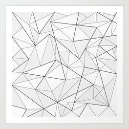 Folded geometric pattern Art Print