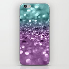 Aqua Purple MERMAID Girls Glitter #2 #shiny #decor #art #society6 iPhone Skin