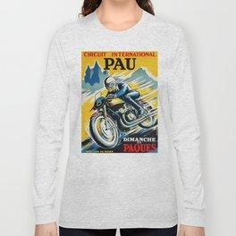 Grand Prix Pau, vintage poster, Motorcycle poster, race poster, Motorcycle poster Long Sleeve T-shirt