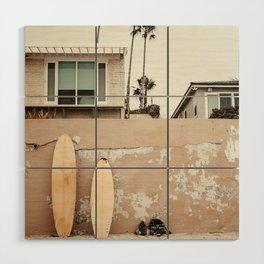 San Diego Surfing Wood Wall Art