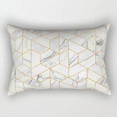 Marble hexagonal pattern Rectangular Pillow