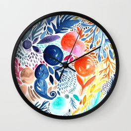 Summer garden Wall Clock