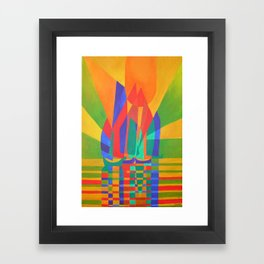 Dreamboat - Cubist Junk In Primary Colors Framed Art Print
