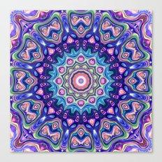 Circular Spectral Kaleidoscope Canvas Print