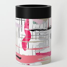 Pink Brushstroke Can Cooler