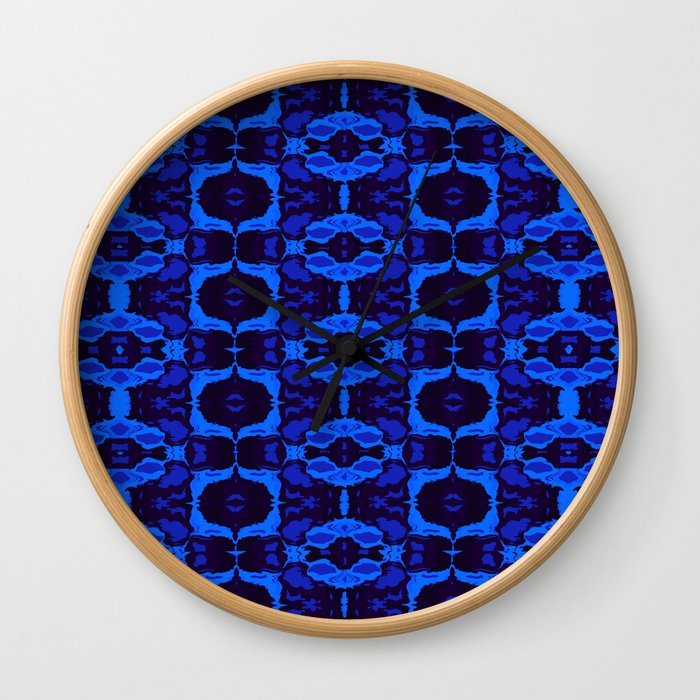 Blue shapes Wall Clock