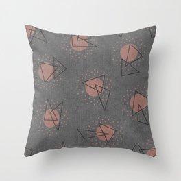 RANDOM ABSTRACT PATTERN GREY Throw Pillow