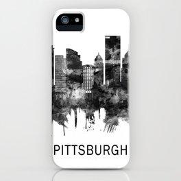 Pittsburgh Pennsylvania Skyline BW iPhone Case