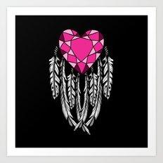 Bejeweled Heart Art Print