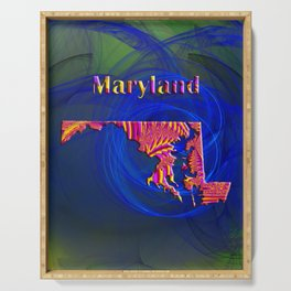 Maryland Map Serving Tray