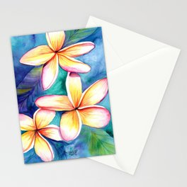 Blooming Plumeria 5 Stationery Cards