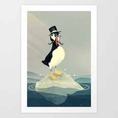 Lord Puffin Art Print
