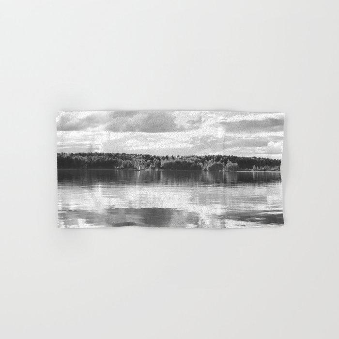 Reflections On A Lake #decor #society6 Hand & Bath Towel