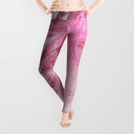 Pink Wave Fractal Leggings