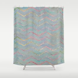 Chevron Rainbows Shower Curtain