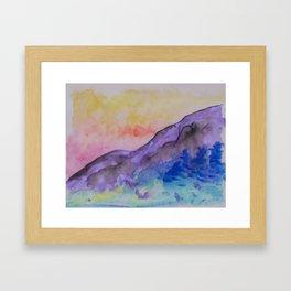 purple mountainside Framed Art Print