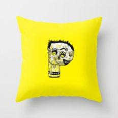 P – Punk Throw Pillow
