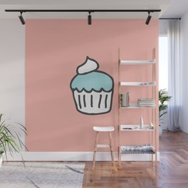 Cotton Candy Cupcake Wall Mural