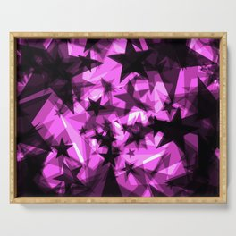 Dark purple cosmic stars with glow in the distance from the foil in perspective. Serving Tray