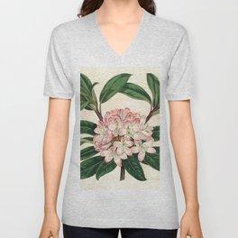 Rhododendron maximum 'Great laurel' Unisex V-Neck