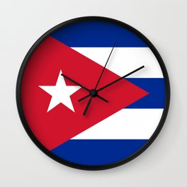 National flag of Cuba - Authentic HQ version Wall Clock