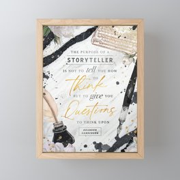 Storyteller Framed Mini Art Print