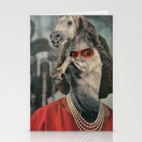 helen green Stationery Cards featuring Horsehead Helen  by Computarded
