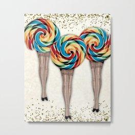 The Lollipop Sisters Metal Print