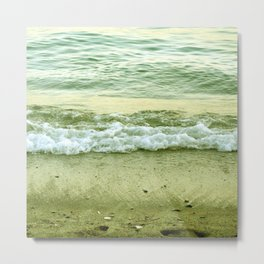 surf lace: gold variations Metal Print